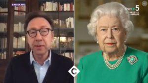 """Stéphane Bern analyzes Queen Elizabeth II's speech: """"It's a rock in the storm."""""""